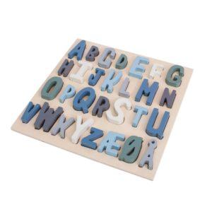 Sebra Holz ABC Puzzel blau 2018