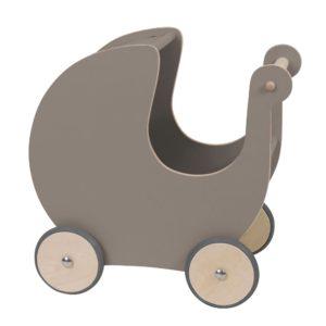Sebra Puppenkinderwagen aus Holz, warmes grau 3005305-01
