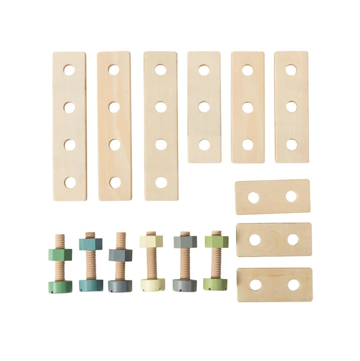 sebra Bau-Spielset aus Holz 3017302 - 01