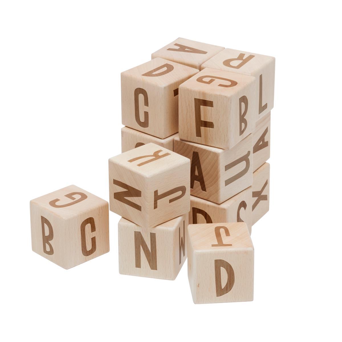 sebra Buchstabenblöcke aus Holz, 16 Stck., Holz 3017304 - 01