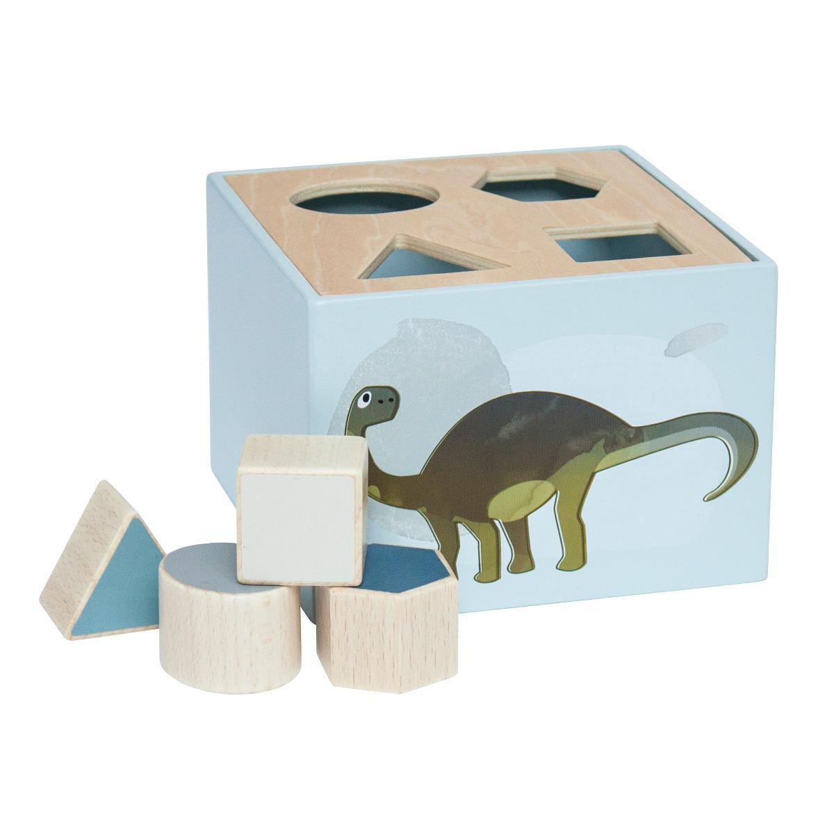 sebra Formensteckspiel aus Holz, Dino 3017104 - 01