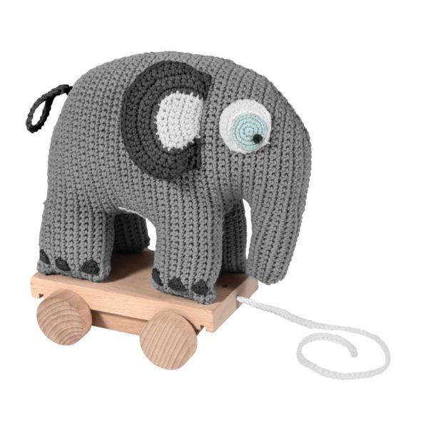 sebra Häkel-Nachziehtier, Elefant, grau 3011302 - 01