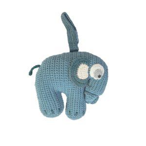 sebra Häkel-Spieluhr, Elephant, wolkenblau 3013102