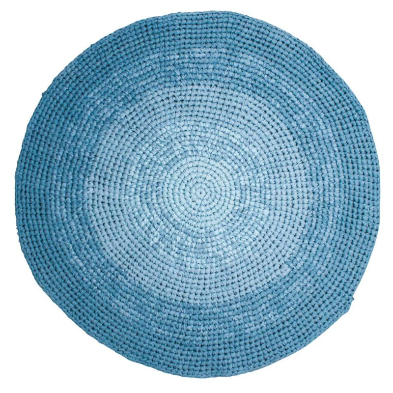 sebra Häkelteppich, gradient blau 4003107 - 01