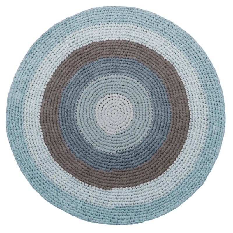 sebra Häkelteppich, wolkenblau 4003105 - 01