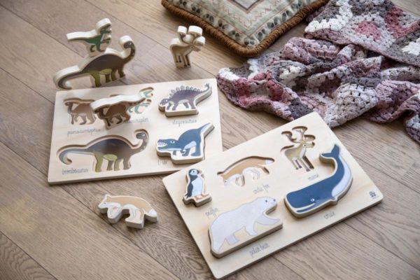 sebra Kräftiges Puzzle aus Holz, Arctic animals 3015204 - 02