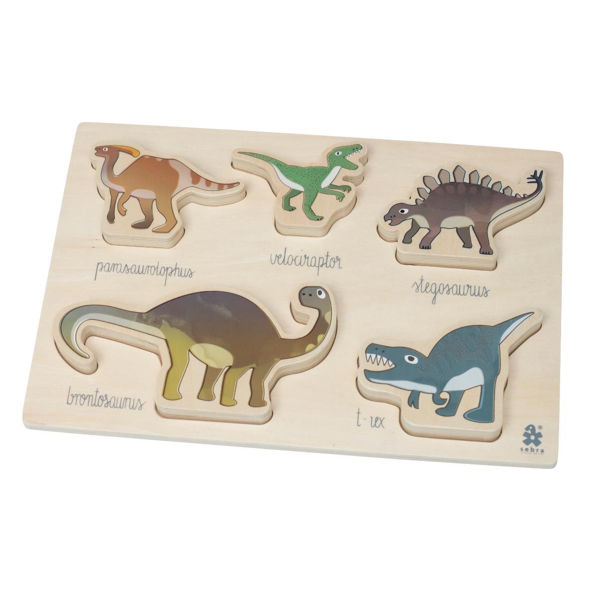 sebra Kräftiges Puzzle aus Holz, Dino 3015104 - 01