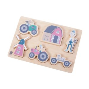 sebra Kräftiges Puzzle aus Holz, Farm, Junge 3015102