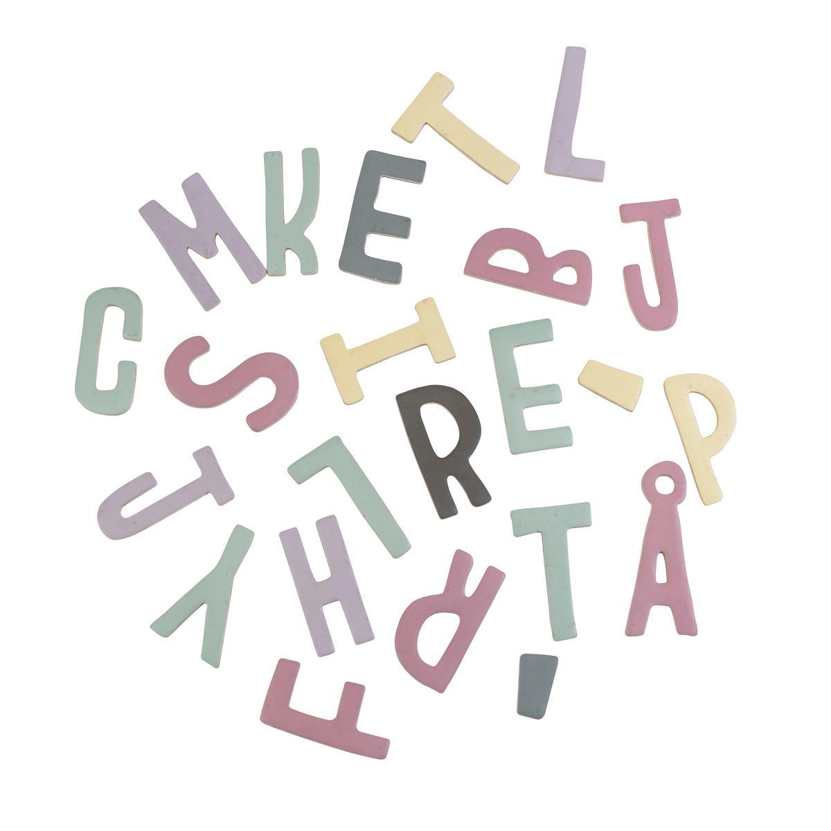 sebra Magnetbuchstaben, 62 Stk., gemischt, Mädchen 8010201