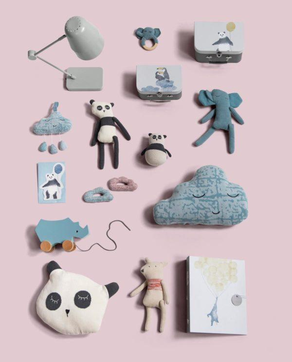 sebra Nachziehspielzeug aus Holz, Nashorn, wolkenblau 3017103 - 04