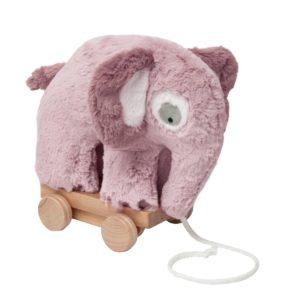 sebra Plüsch-Nachziehtier, Elefant, altrosa 3001210 - 01