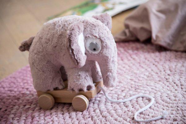 sebra Plüsch-Nachziehtier, Elefant, altrosa 3001210 - 02