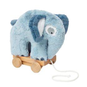 sebra Plüsch-Nachziehtier, Elefant, wolkenblau 3001111 - 01