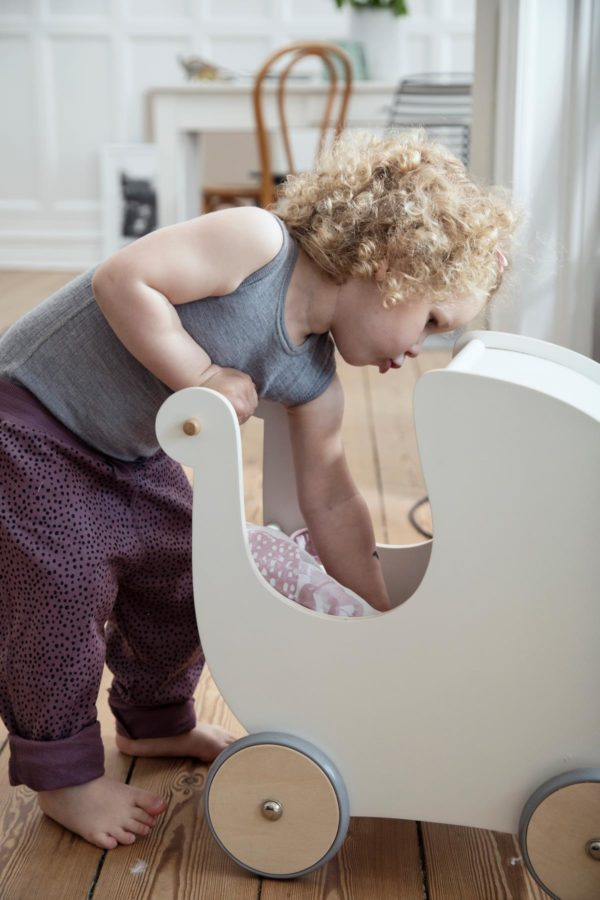 sebra Puppenkinderwagen aus Holz weiß 3005302 - 02