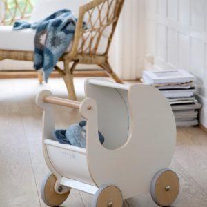 sebra Puppenkinderwagen aus Holz weiß 3005302 - 03