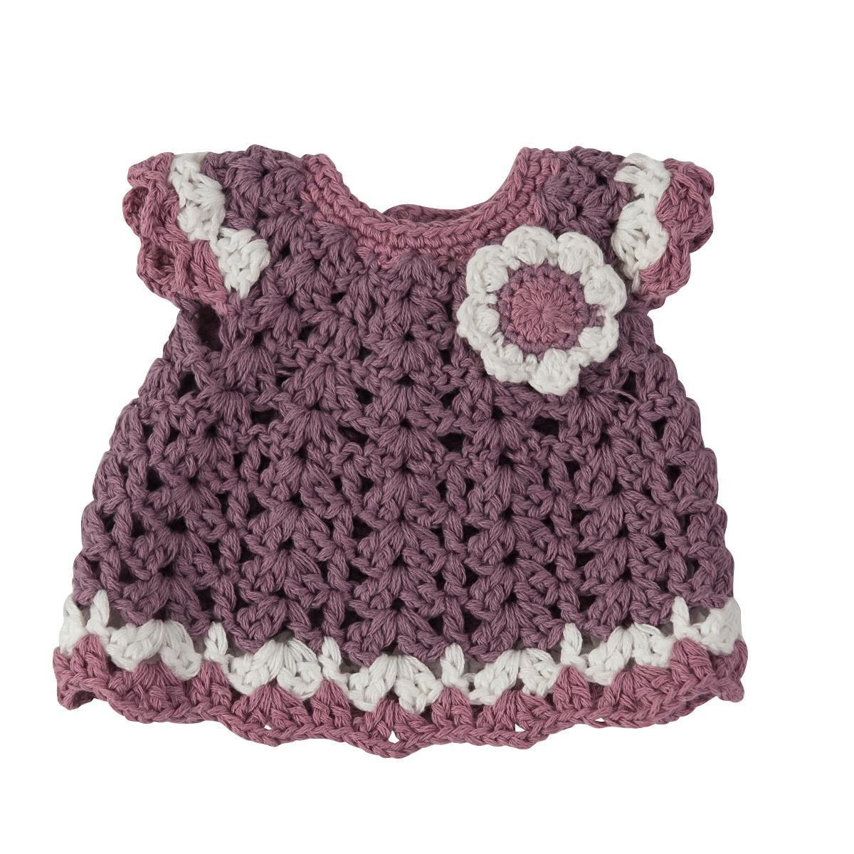 sebra Puppenkleidung, Kleid mit Blumen, pastell lila 3003201