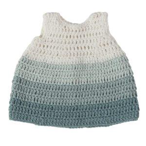 sebra Puppenkleidung, Kleid, pastell blau 3003203 - 01