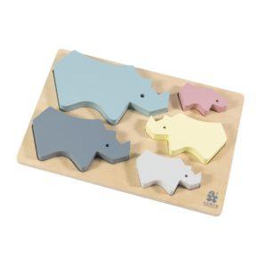 sebra Puzzle aus Holz, Nashorn 3015303