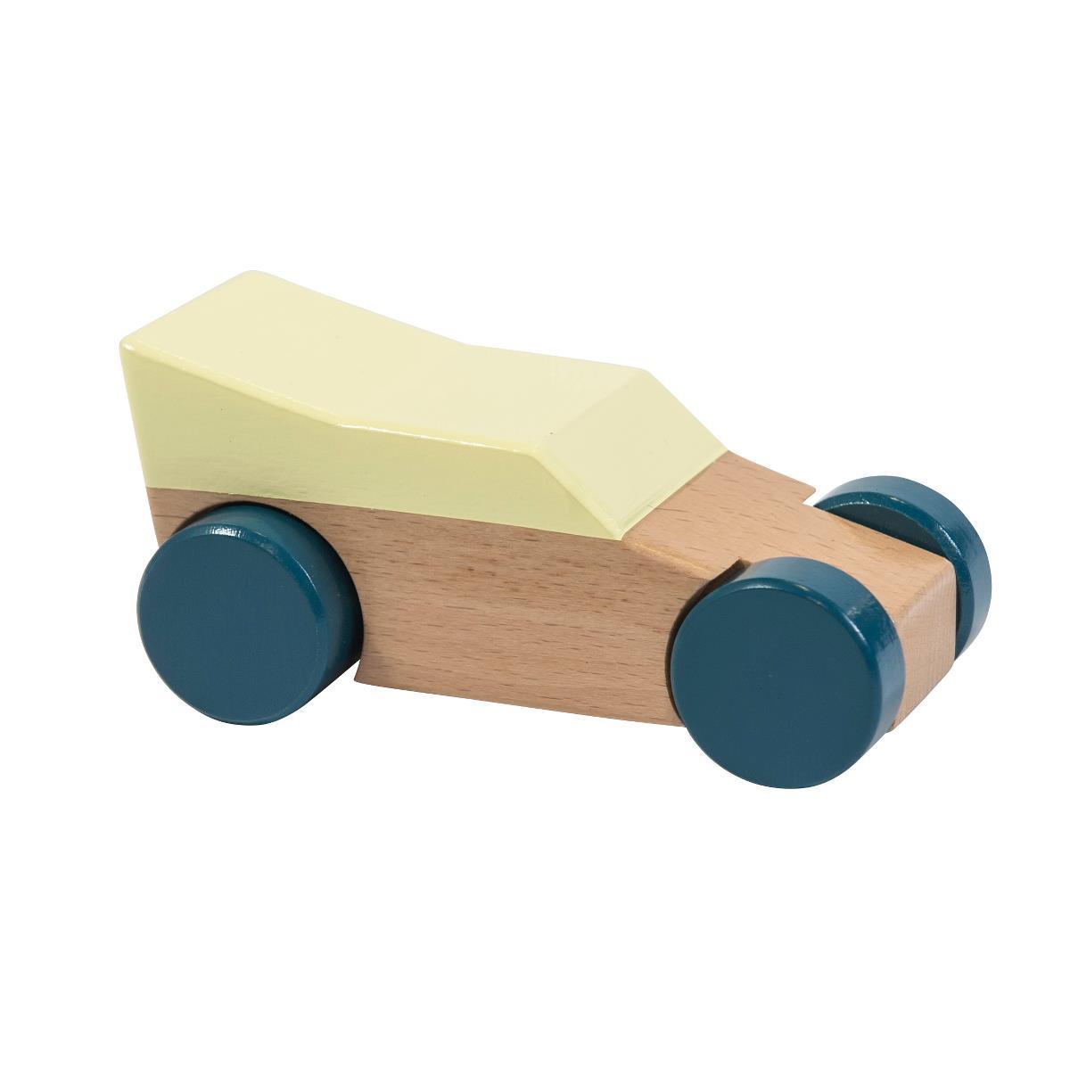 sebra Rennwagen aus Holz, gelb 3019303 - 01