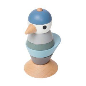 sebra Stapel-Vogel aus Holz, königsblau 3017105 - 01