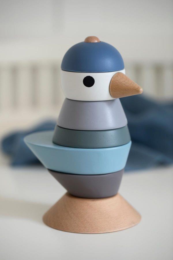 sebra Stapel-Vogel aus Holz, königsblau 3017105 - 02