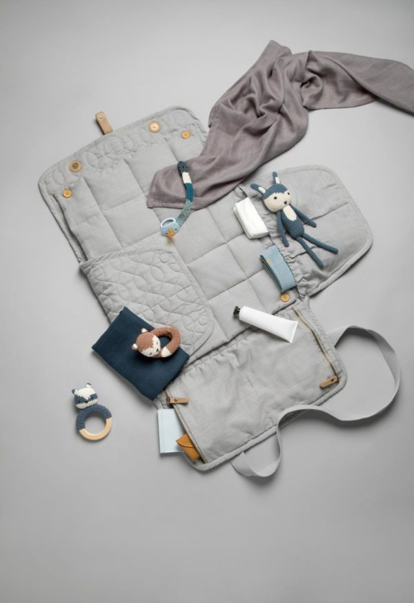 Sebra Wickeltasche, abgesteppt, elephant grey 8013307 - 02