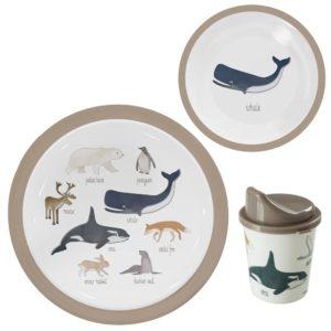 sebra Melamin Geschirr, 3-teilig, Arctic animals 7001217 - 01