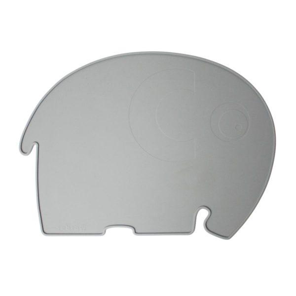 sebra Silikon Platzdeckchen, Elefant, grau 7010301 - 01