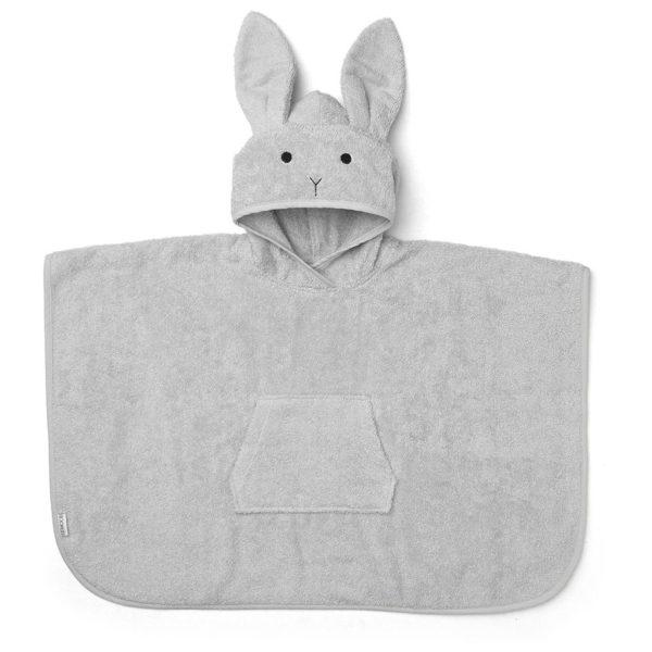 Liewood Badeponcho Rabbit dumbo grey LW12356-0032