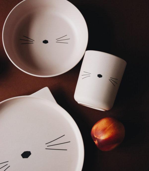 """Liewood Bambus Geschirr-Set Panda """"Cat rose"""" Mood"""