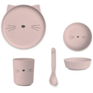 Liewood Geschirr-Set Cat rose LW12393 - 0022