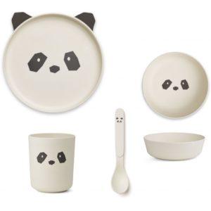 Liewood Geschirr-Set Panda creme de la creme LW12393 - 0010
