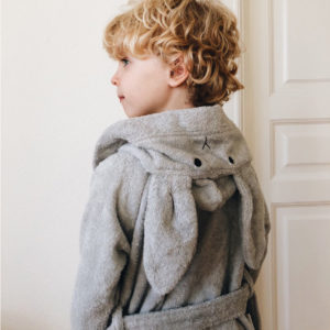 Liewood Lily Bademantel Rabbit dumbo grey mit Junge