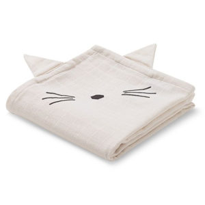 Liewood Spucktuch Cat sweet rose LW12485-0021