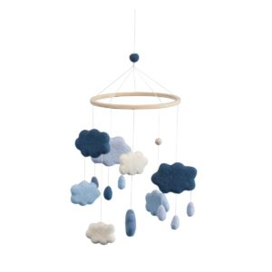 sebra Filz-Babymobile Wolken königsblau 8018201 - 01