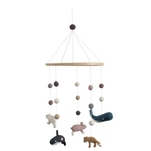 sebra mobile h kel babymobile arctic animals hipster baby. Black Bedroom Furniture Sets. Home Design Ideas