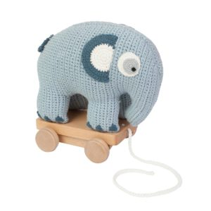 Sebra Häkel-Nachziehtier, Elefant, königsblau 3001112