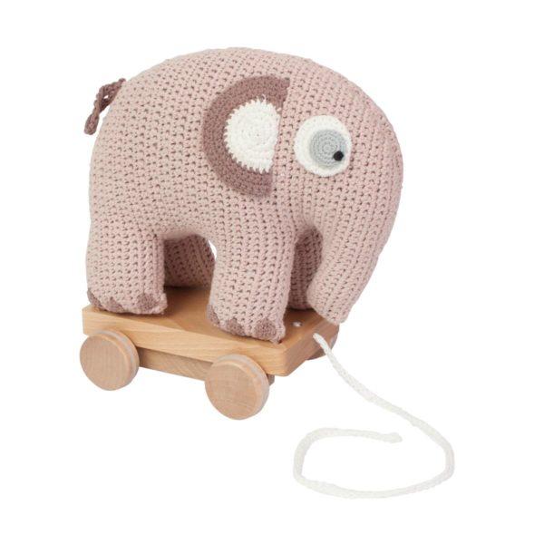 Sebra Häkel-Nachziehtier, Elefant, mitternacht pflaume 3001213