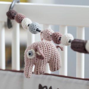 Sebra Häkel-Kinderwagenkette, Elefant, mitternacht pflaume 8010202 - 02