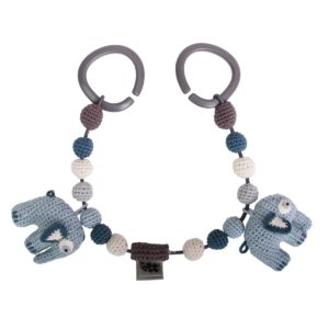 sebra Häkel-Kinderwagenkette, Elefant, königsblau 8010102 - 01