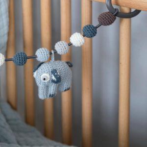 sebra Häkel-Kinderwagenkette, Elefant, königsblau 8010102 - 02