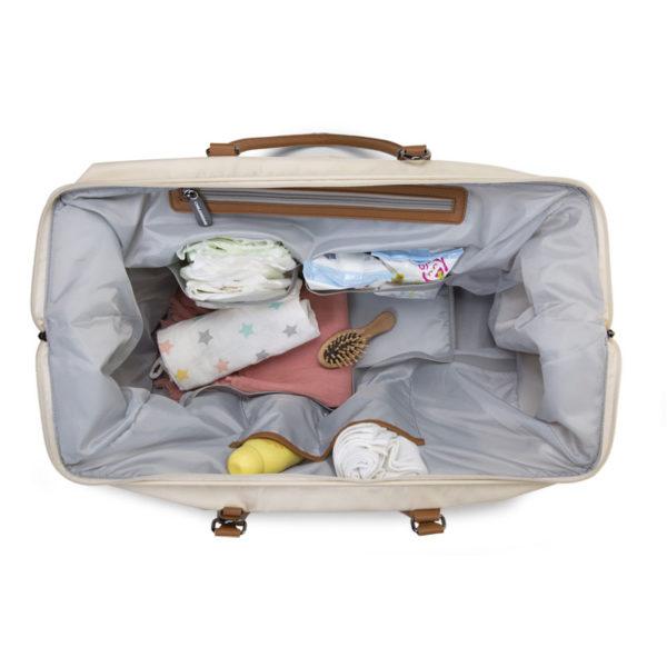 Childhome Mommy Bag in alt weiß – große Wickeltasche - 07