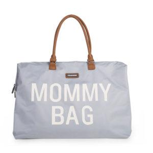 Childhome Mommy Bag in grau : weiß – große Wickeltasche