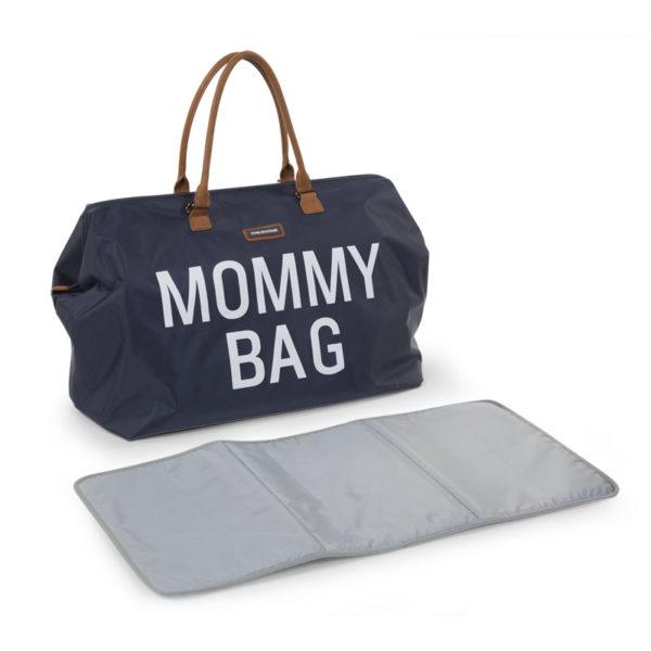 Childhome Mommy Bag in navy blau – große Wickeltasche - 08