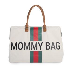 Childhome Mommy Bag in weiß mit Streifen 2 – große Wickeltasche