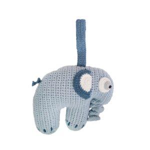 Sebra Häkel-Spieluhr, Elefant, köningsblau 3013104 - 01