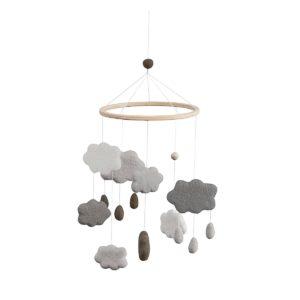 Sebra Mobile aus Filz, Wolken, warmes grau 8018301 - 01