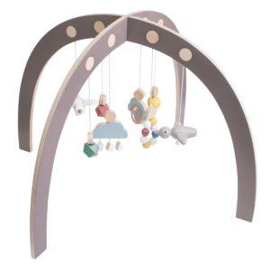 Sebra Spielbogen, Babygymnastikcenter, Baby gym, warmes grau 3005306 - 01