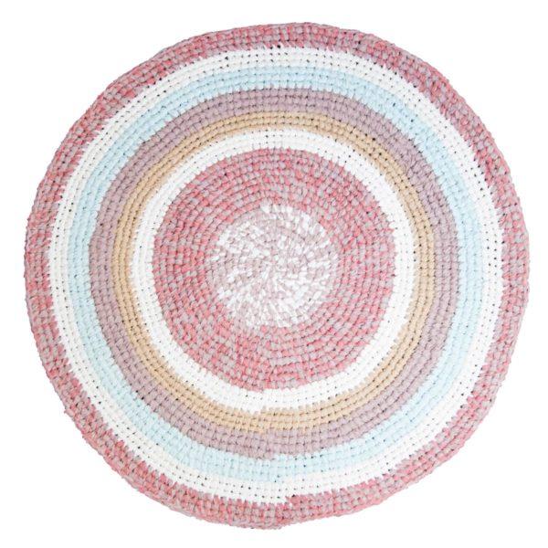 Sebra Teppich pulverrosa melange, Häkelteppich 4003208 - 01