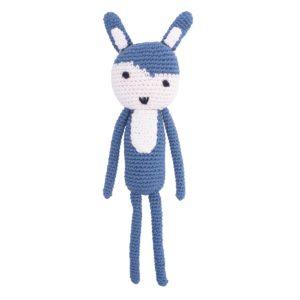 Sebra Häkel-Tier Kaninchen köningsblau